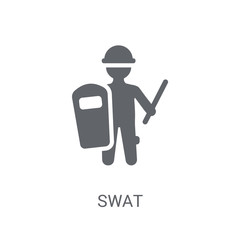 Swat icon. Trendy Swat logo concept on white background from Professions collection