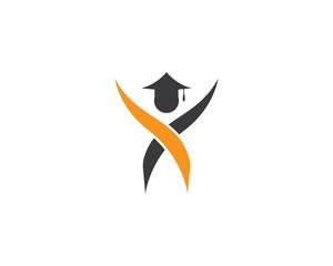 Education logo template vector icon illustration