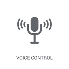 Voice control icon. Trendy Voice control logo concept on white background from Smarthome collection