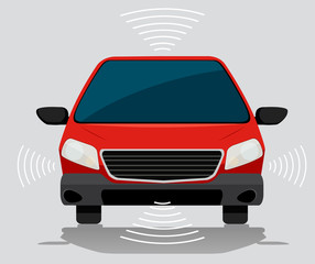 Electric self driving car