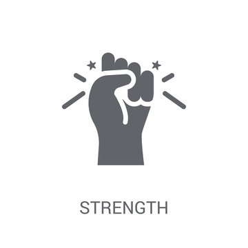 Strength icon. Trendy Strength logo concept on white background from Startup Strategy and Success collection
