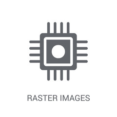 Raster Images icon. Trendy Raster Images logo concept on white background from Technology collection