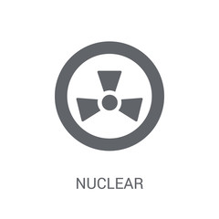 Nuclear sign icon. Trendy Nuclear sign logo concept on white background from Traffic Signs collection