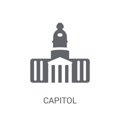 Capitol icon. Trendy Capitol logo concept on white background from United States of America collection