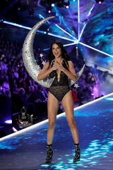 Model Adriana Lima presents a creation during the 2018 Victoria's Secret Fashion Show in New York