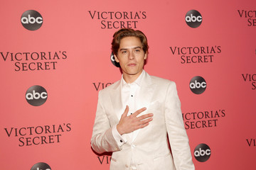 Dylan Sprouse arrives at the 2018 Victoria's Secret Fashion Show at Pier 94
