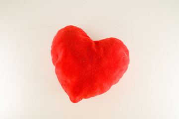 Close-up of red heart pillow