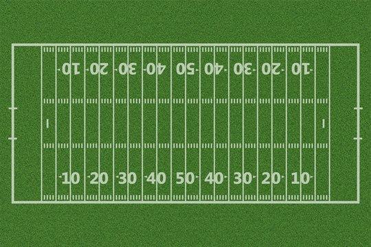 Top views of american football field