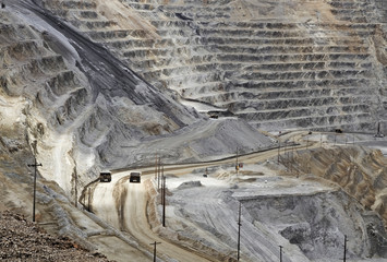 Kennecott, copper, gold and silver mine operation outside Salt Lake City, Utah, United States Fototapete