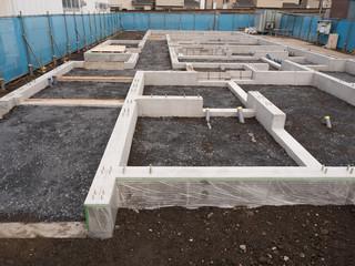 Fototapete - アパート建設の基礎工事