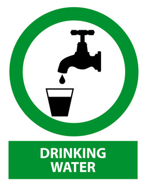 Drinking water vector sign
