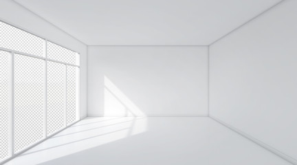 White room space background.