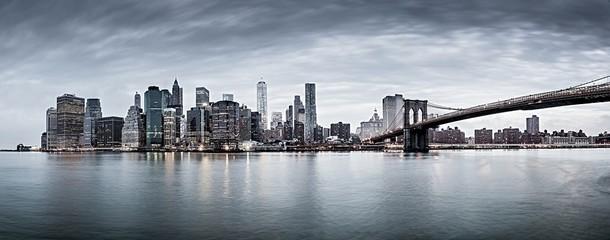 New York city sunset panorama ,cityscape.