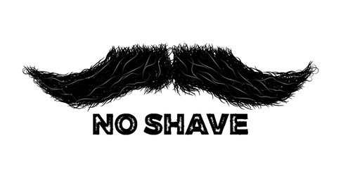 Mustache sign or label as a symbol of masculinity