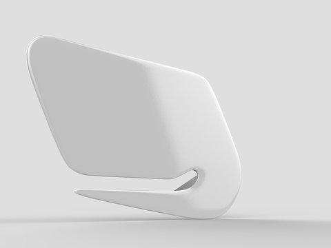 Blank letter opener for branding and mock up. 3d render illustration.