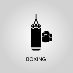 Boxing glove icon. Boxing glove symbol. Flat design. Stock - Vector illustration