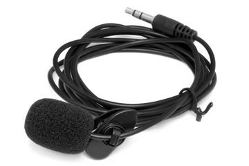 Condenser lavalier tie clip microphone