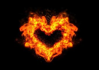 炎の抽象的なハート