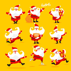 Set of Christmas Santa Claus