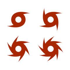 Hurricane - storm sign, symbol. White background. Vector illustration