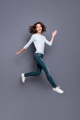 Wall Mural - Motion movement action image concept. Full legs length body size