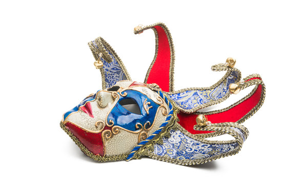 carnival mask isolated