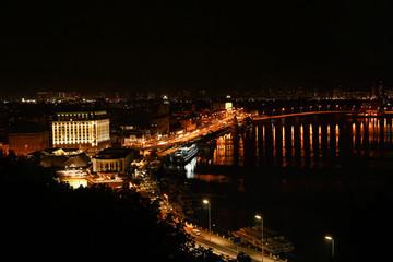View of beautiful illuminated city at night