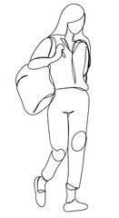 continuous line drawing of office uniform and formal shoes. Business woman or professor in black suit
