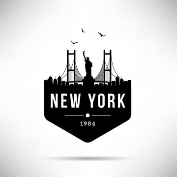 New York City Modern Skyline Vector Template