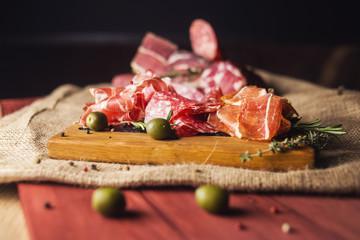 set with ham,sausage