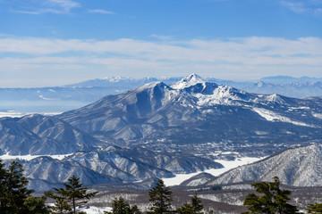 西大巓から見た磐梯山