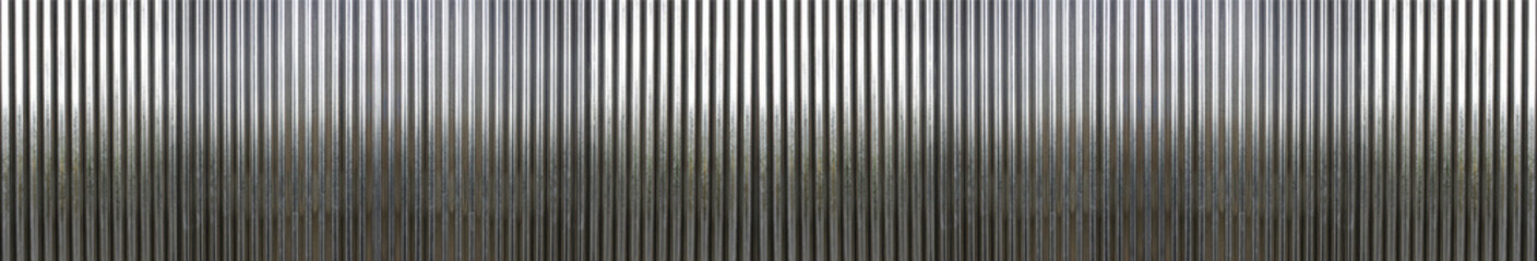 Fotorolgordijn Metal white corrugated metal texture surface or galvanize steel background