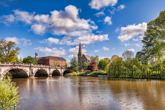 The English Bridge on the River Severn, Shrewsbury