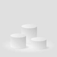 Winner pedestal on gray background vector background