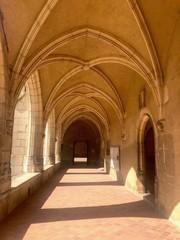Archi gotici del Chiostro del Monastero reale di Brou, Bourg-en-bresse, Francia
