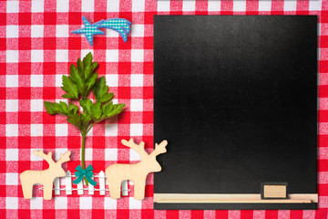 Original background for Christmas menu