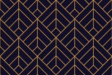 Vector ornamental seamless pattern. Gold  background and wallpaper in Arabic style. Geometric pattern. illustration for your design.