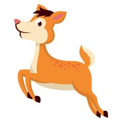 Poster Pony Illustration of mouse deer running