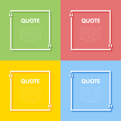 Set of frames for quotes