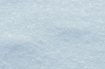 Texture of snow. Snow winter background