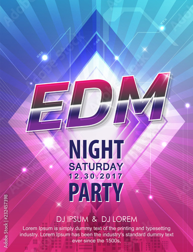 electronic dj music party vector design background