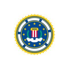 Fbi seal. Federal Bureau of Investigation sign