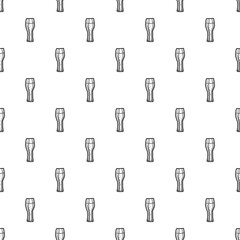 Ale beer glass pattern seamless repeat background for any web design