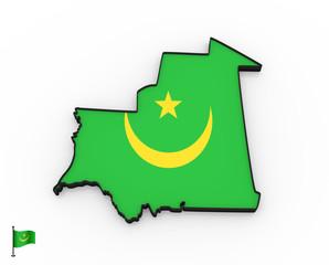 Mauritania high detailed 3D map