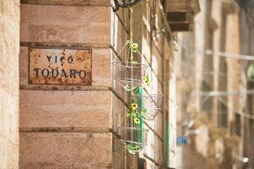 Taranto, Apulia - Lovely decoration within the old town of Taranto in Italy