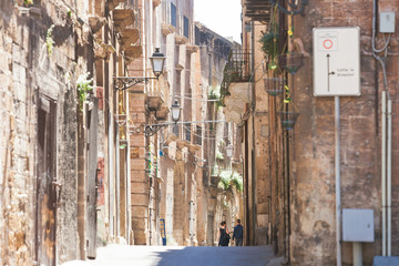 Taranto, Apulia - Middle aged architecture in the old town of Taranto