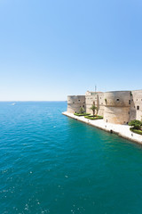 Taranto, Apulia - The old stronghold at the coastline of Taranto