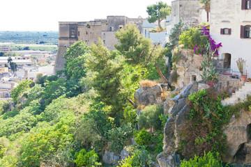 Massafra, Apulia - Middle aged stairways leading down the hills of Massafra