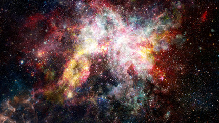 Colored clouds in nebula. Elements of this image furnished by NASA.