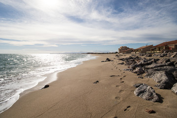 La plage naturiste de Leucate